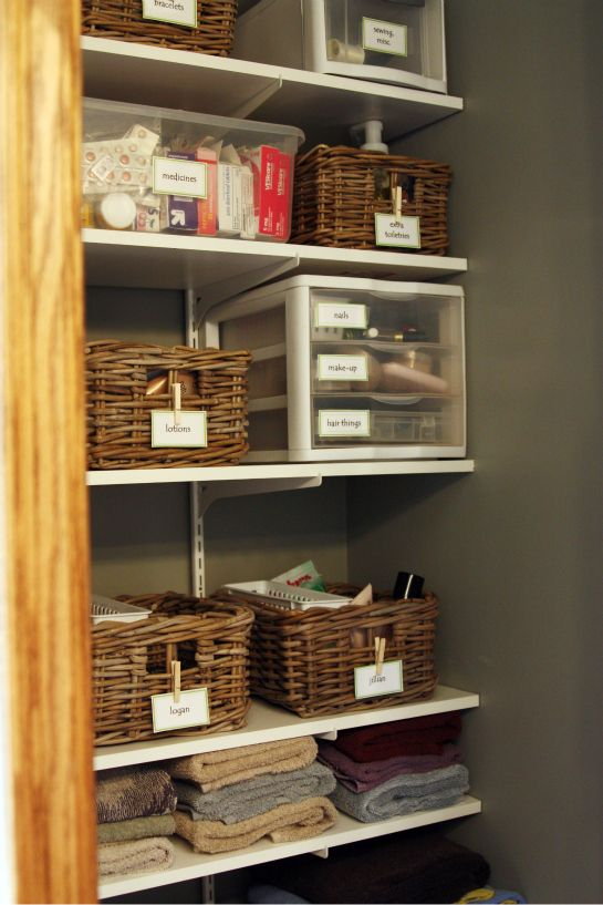 17 Best Images About Linen Closet Storage And Organization On Pinterest Do More Labels Free