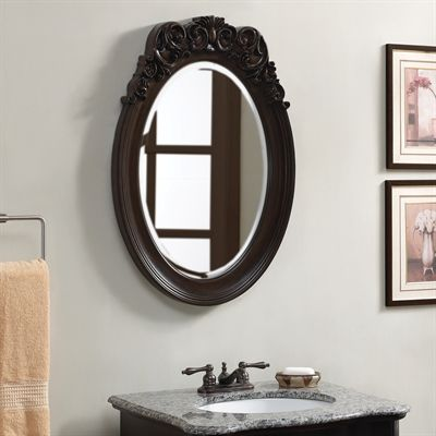 Inspiration Web Design Shop allen roth W x H Mocha Oval Bathroom Mirror at Lowe us Canada Find our selection of bathroom mirrors at the lowest price guaranteed with price match