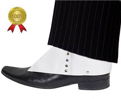 White deluxe gangster 1920's fancy #dress pimp #spats #adult mens mafia moll…