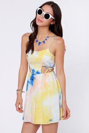 Best 25 blue and yellow dress ideas on pinterest women for Order tie dye roses online