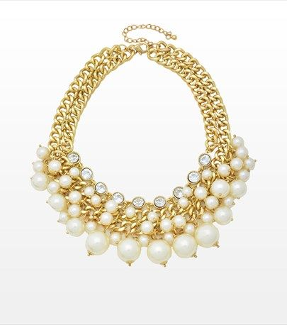 #DYNHOLIDAY Chic and Glamorous! This pearl statement necklace is perfect for cocktails! Pair it with your favourite little black dress.