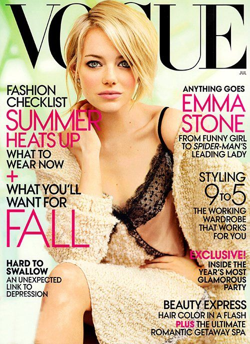 Emma Stone Covers US Vogue, July 2012