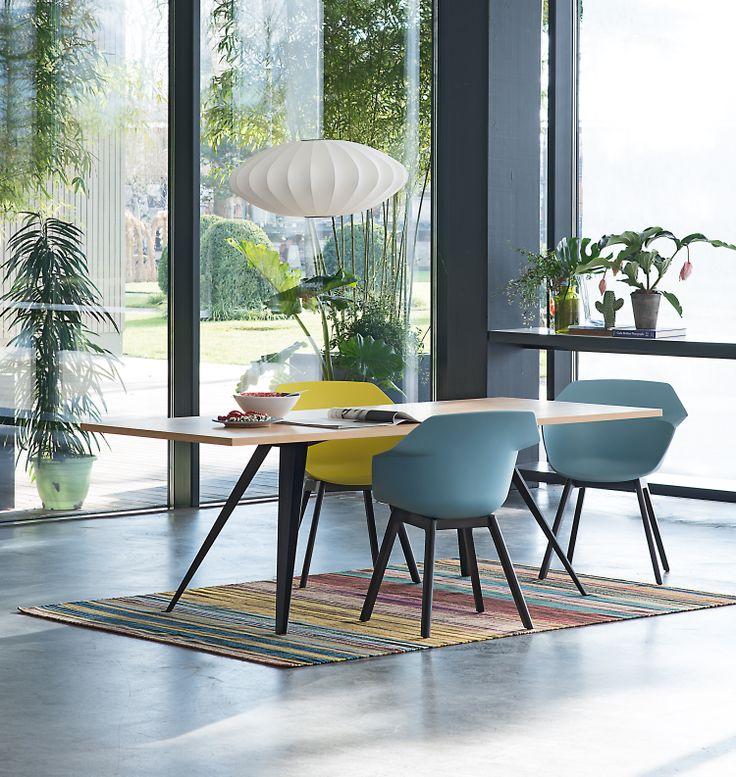 Hanging Lamp Feline and Chair Wila by Atelier Pfister, Tropical Retro, Indoor Ideas, Design, Furnishing and Decoration Ideas, Decoration, Elegance and Style, Beautiful Garden