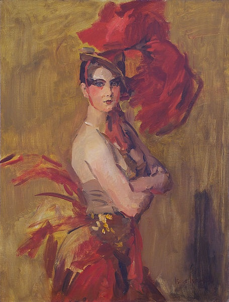 Show-girl (La Cocotte) at Scala Theatre, The Hague, by Isaac Israels