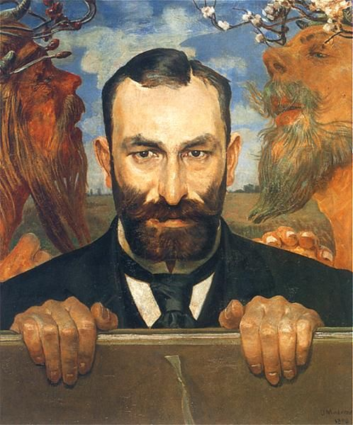 Jacek  Malczewski (1854-1929)  -—  Feliks Jasieński(498×600)