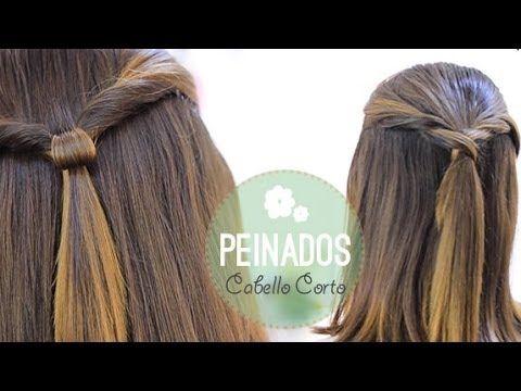 Peinados fáciles para cabello corto - YouTube