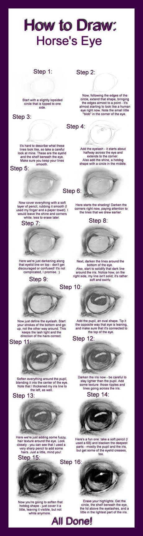 How To Draw: Horse's Eye By Definex On Deviantart