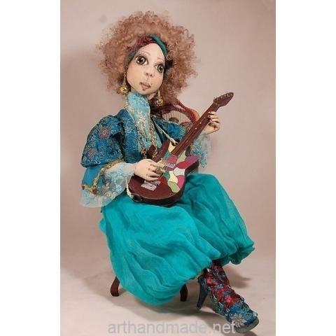 Textile doll Madina, BJD. Author Marysia Semitsvet - arthandmade.net/... Doll, ball-jointed doll, BJD, collectible doll, handmade doll, gift, original gift, craft, handmade, collection, Gallery Magical World, кукла, купить куклу, шарнирная кукла, коллекционная кукла, кукла ручной работы, подарок, оригинальный подарок, ручная работа, коллекция, Галерея Волшебный мир