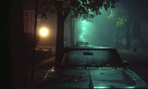 Submitted by rizzman1953 - Medford, Massachusetts, Fall 1978. Misty; wet; the smell of wet leaves and the quiet. From a Kodachrome slide I took with a Nikon FM camera.