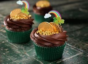 Gâteaux arc-en-ciel de la Saint-Patrick