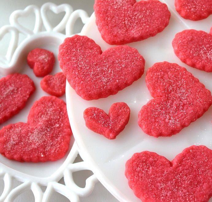 SugaryWinzy Heart Shortbread Cookies