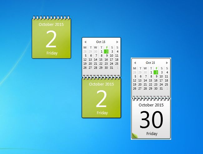 how to add calendar to windows 10 desktop