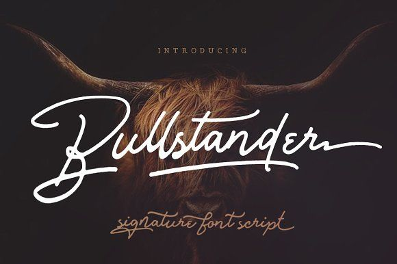 Bullstander 6 Font Set - 60% OFF by Dirtyline Studio on @creativemarket