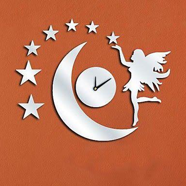 Reloj de Pared Espejo Hada Luna | Relojes de Pared