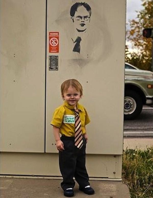 irrelevant for kendalls shower but came up during a search so had to post. Halloween baby costumes: The office