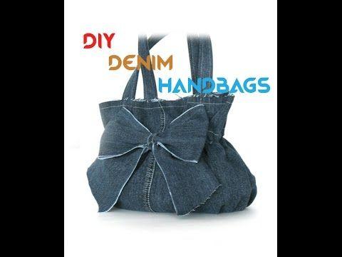Convert your Denim Jeans into a Beautiful Handbag (DIY)...!!! - YouTube