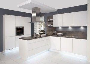 Duo white matt/Rio dark oak white kitchen from Kutchenhaus