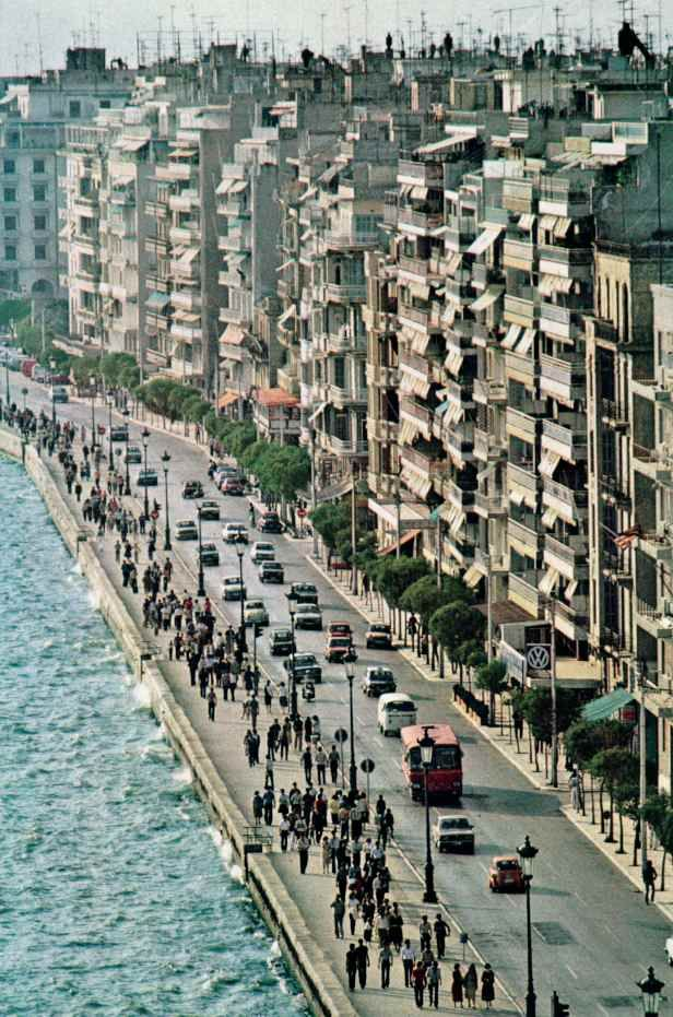 Thessaloniki seafront, from National Geographic, March 1980