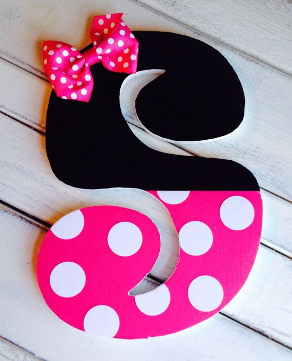 Letra decorada estilo minnie