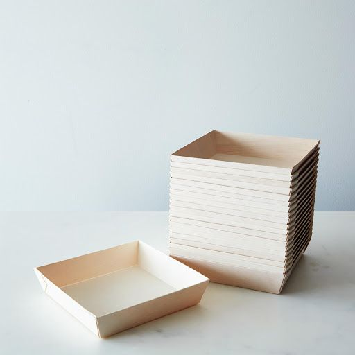 Compostable Wooden High-Edge Plates (Set of 20) on Provisions by Food52- a serious upgrade from paper plates