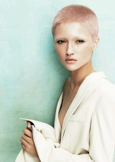 Pastel buzz cut. Me right now, except being a model part!