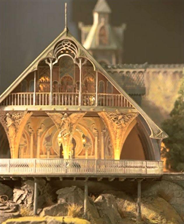 House Model Design: Fantasy House, Elven City, Lotr