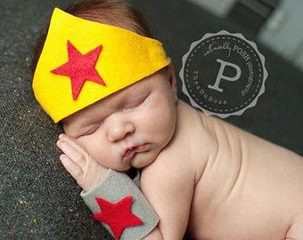 Wonder Women Newborn Superhero Costume for by pitterpatcrochet