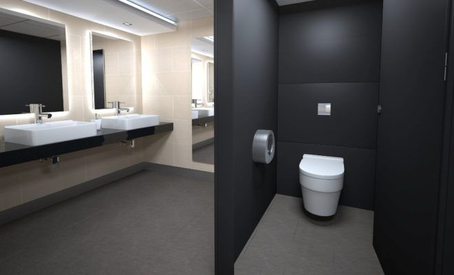 Enhance The Look Of Your Kitchen With These Tips And Tricks Office Bathroom Design Restroom Toilet