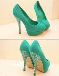 Resultado de imagen para zapatos de 15 años verde agua