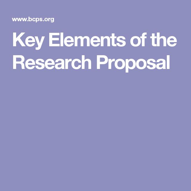 research outline proposal example