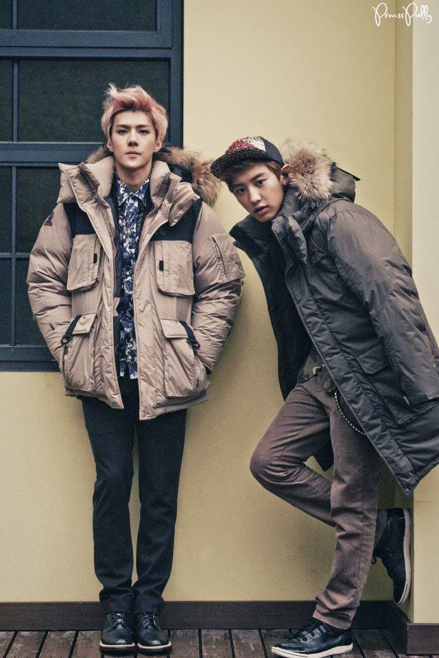 sehun, chanyeol, and big oversized jackets :3