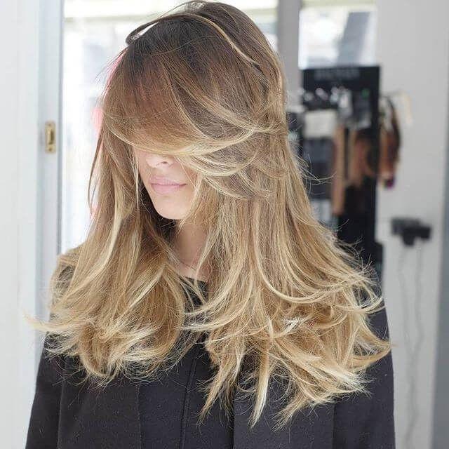 Lange haare stufen stylen