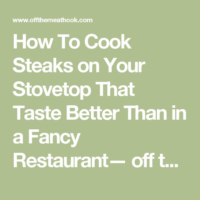 how to order a steak at a fancy restaurant