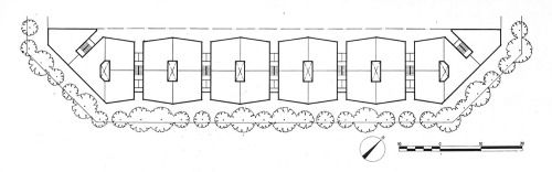 "elarafritzenwalden:  "" Housing for the employees of a metallurgical factory  Barcelona, Spain; 1955-59  Oriol Bohigas Guardiola, Josep Maria Martorell, David Mackay  Taken from ""Cuadernos de arquitectura, 44"" (1961)  """