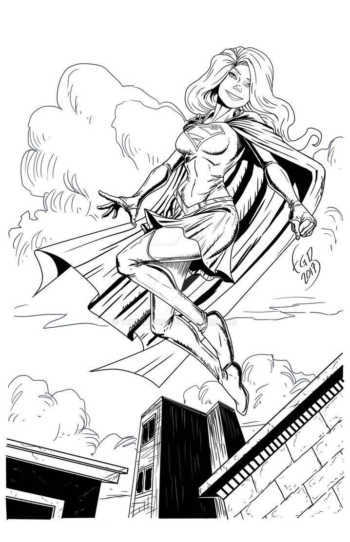 002 Supergirl Tinta by terminus70.deviantart.com on @DeviantArt
