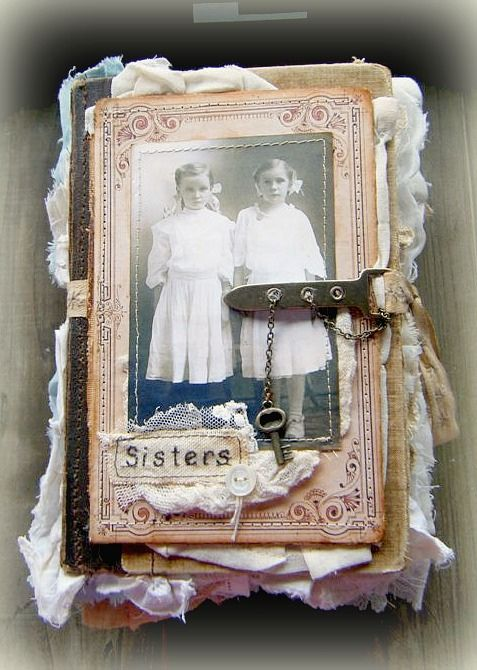 heritage scrapbook - two sisters