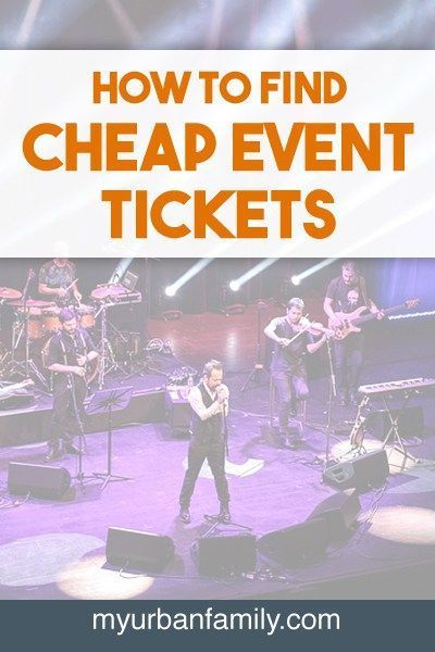 I've found some ways around paying full price - or even half price - for concerts, broadway shows, and other events. Learn how I find cheap event tickets!