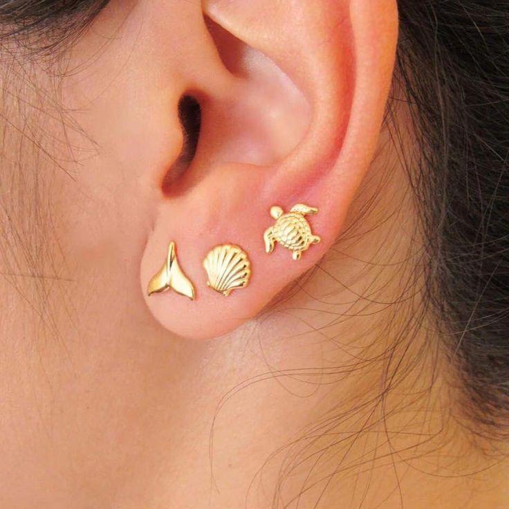 funny earrings ear stud Violet button earrings button ear studs stud earrings one of a kind earrings fancy button earrings