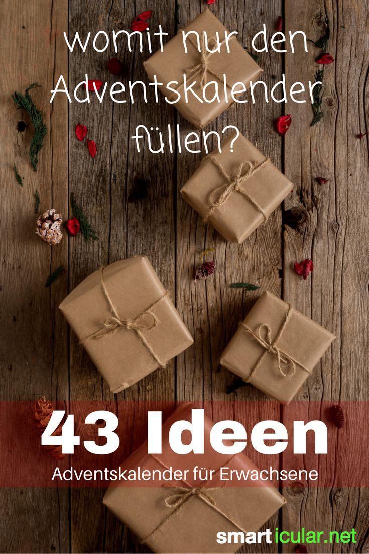 Ideen zum Befüllen des Adventskalenders für deinen Partner, Eltern oder die beste Freundin: Hier findest du einfache Geschenke und originelle Kleinigkeiten