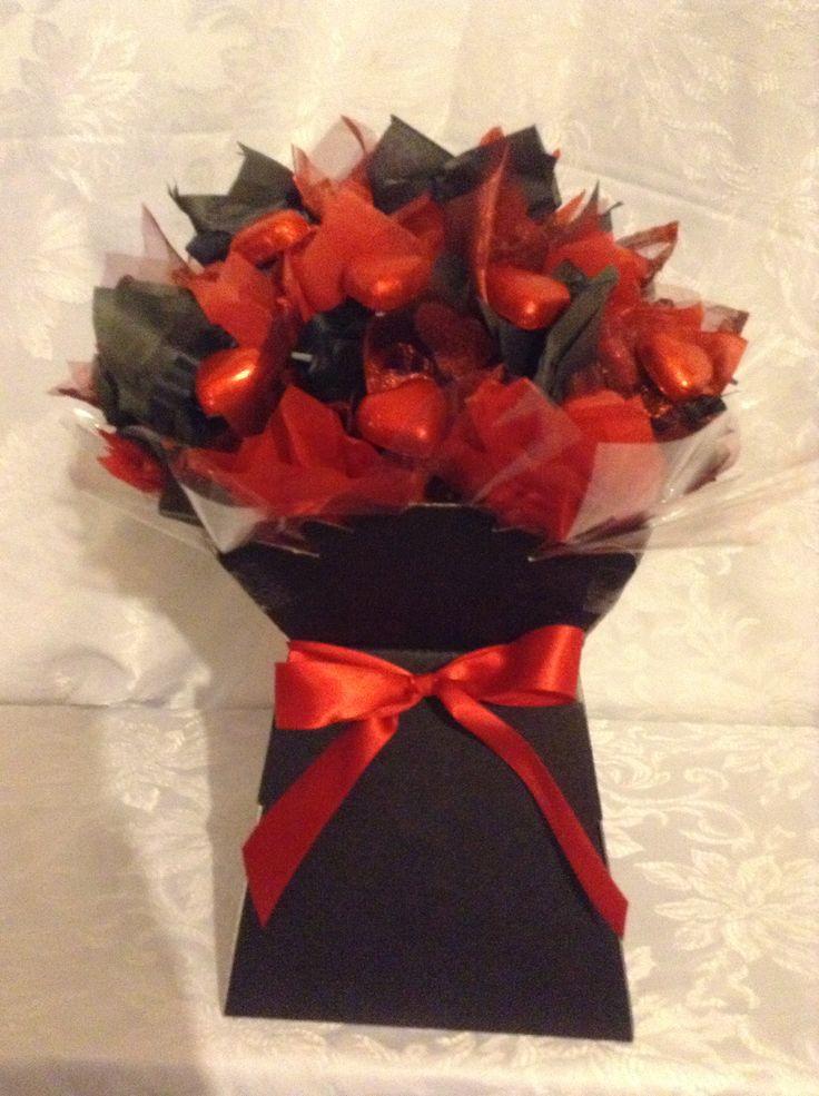 Chocolate heart valentine bouquet
