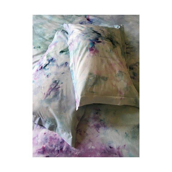 Dreamy Duvet set, handmade duvet set, ice dyed