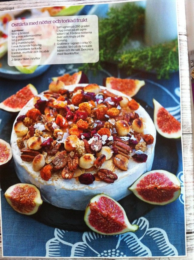 Serving a Brie with fruit and nuts, or baking a Brie with brown sugar and nuts, is an excellent choice to serve with glogg, or any mulled wine