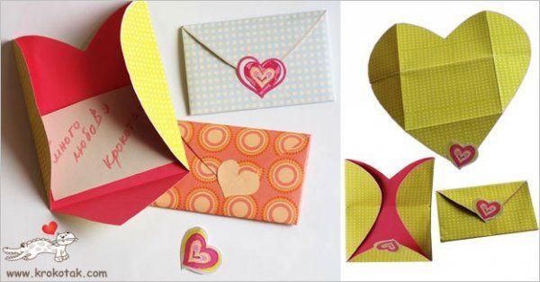 szív alakú boríték