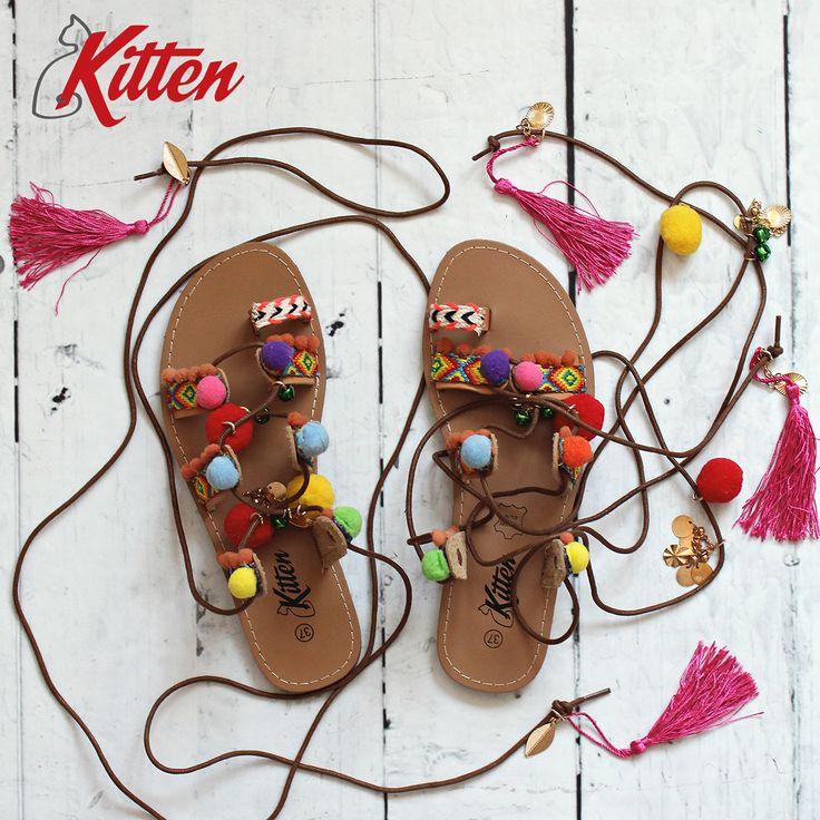 Egy bohókás nyári szandált? :) https://www.officeshoes.hu/cipok-kitten/17/18/ #kitten #sandals #summer #festival #shoes #officeshoes