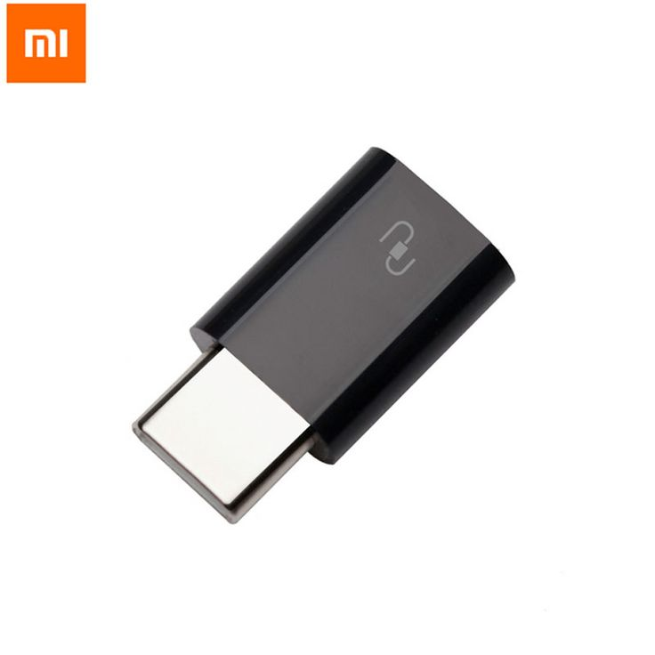 XIAOMI Type-C USB Adapter Mi4c Original Micro USB Female to USB 3.1 Type C Male Cable Convertor Connector Fast Data Sync Black