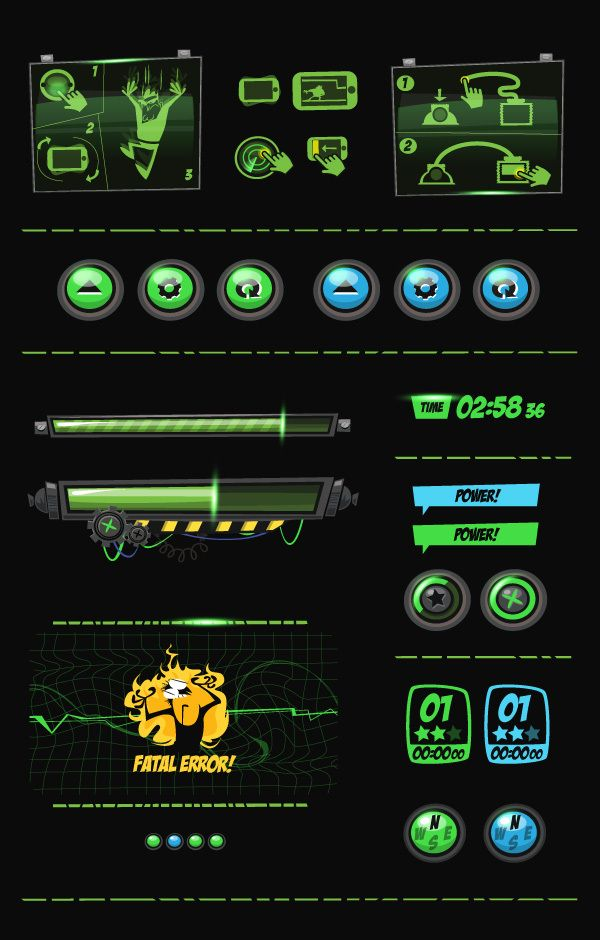 Panic Station - GUI Design by Gabriel Mourelle, via Behance