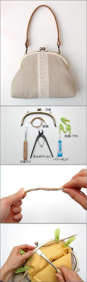 Как установить застежку на сумку или кошелек. МК. Фермуар
