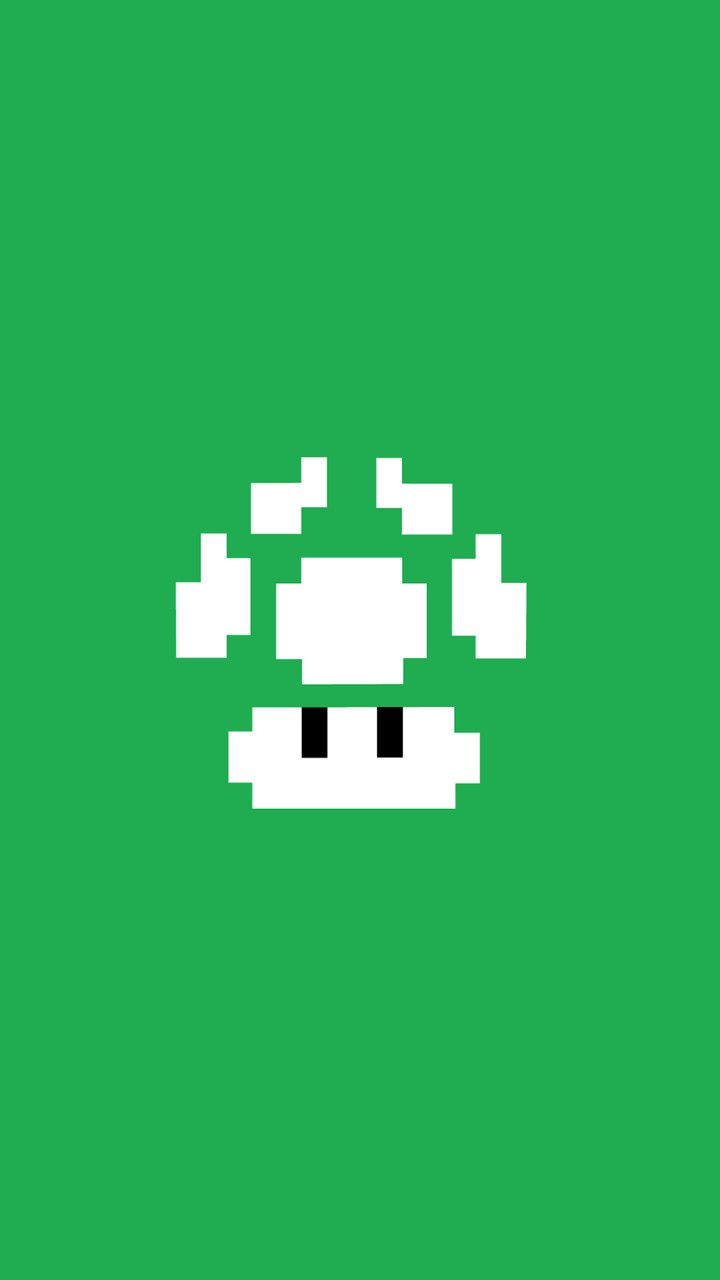 Wallpaper iphone mario bross - Minimalistic 1up Find More Nerdy Iphone Android Wallpapers And Backgrounds