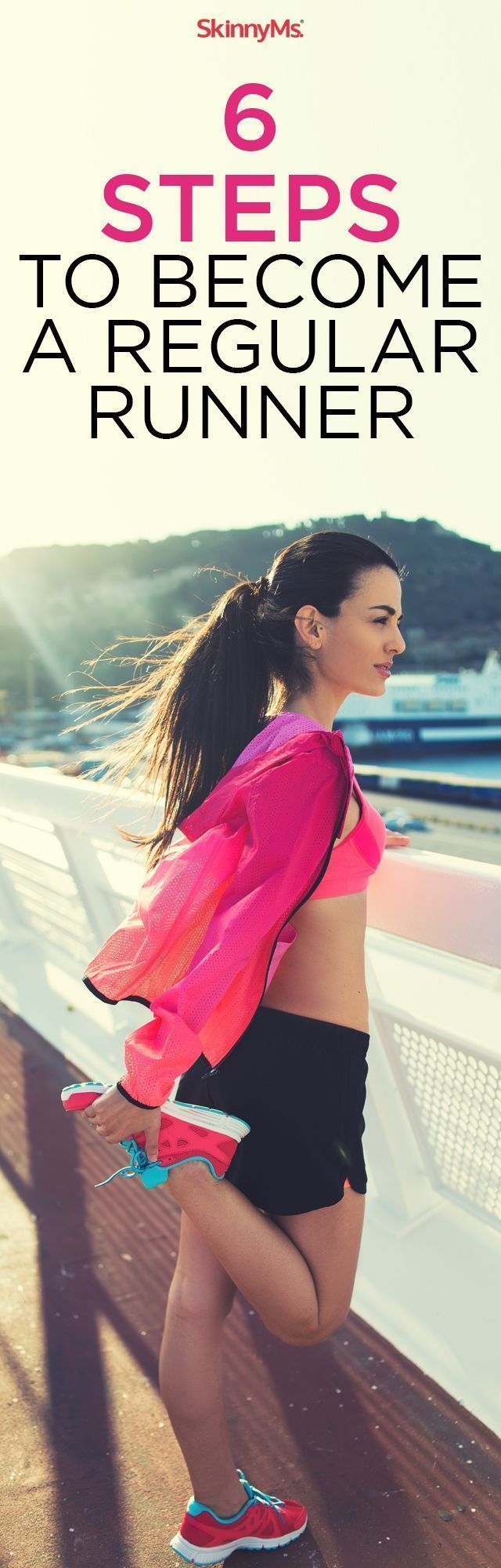 Learn these 6 Steps to train yourself to Become a Regular Runner. #running #love #skinnyms