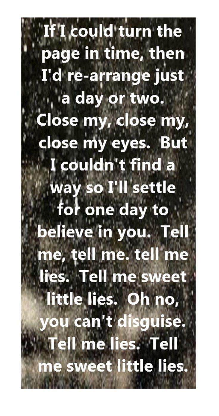 Fleetwood Mac - Little Lies - song lyrics, song quotes ...